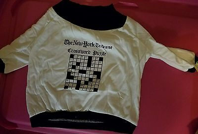 New York Crossword puzzle Dog clothes outfit shirt large