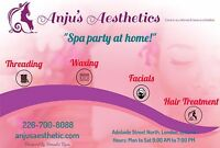 Eyebrow threading $5 and all other aesthetic services