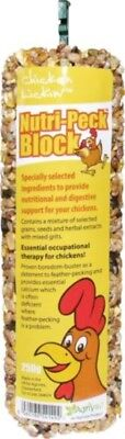 Nutri Peck Block 250g Anti Feather Pecking Grit poultry treat Chicken Lickin