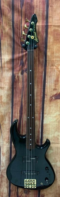 Cool Vintage Aria Pro II RSB Deluxe FRETLESS Bass Guitar in Black -Made in Japan