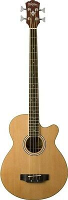 Washburn Acoustic Basses AB5K Acoustic Bass, Natural with Gig Bag - B Stock NOS