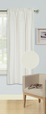 IVORY 1PC (R64) ROD POCKET TOP PANEL SOLID BLACKOUT FOAM LINED WINDOW CURTAIN ()