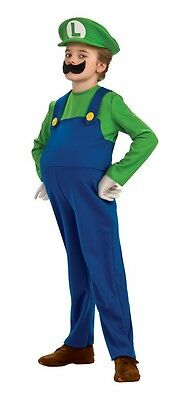 LICENSED DELUXE LUIGI SUPER MARIO BROS. BOYS HALLOWEEN COSTUME SIZE MEDIUM (Mario Bros Deluxe Boys Kostüme)