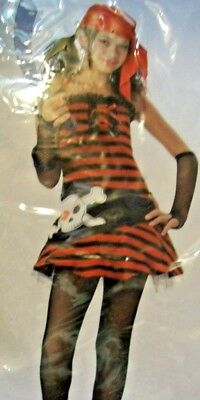 PIRATE CUTIE California Costume~ Theater Cosplay Dress Up~Tween Girls Sz L 10-12