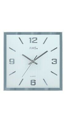 Modern wall clock with quartz movement from AMS AM W9324 NEW