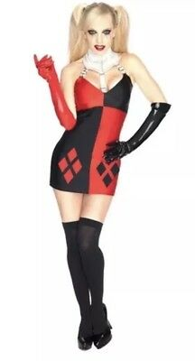 Dc Comics Super Villains Harley Quinn Buckle Collar Dress By Secret Wishes Large
