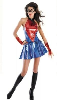 Ready for Halloween Sexy Spider Girl Adult Costume Marvel Comics Size 4-6 NEW