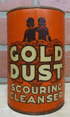 GOLD DUST SCOURING CLEANSER Old Container Tin made in USA UNOPENED