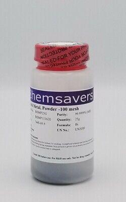 Bismuth Metal Powder -100 Mesh 99.9999 Metals Basis 25g