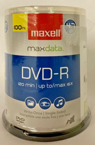 100/PK Maxell Maxdata DVD-R Spindle 4.7gb 120 min