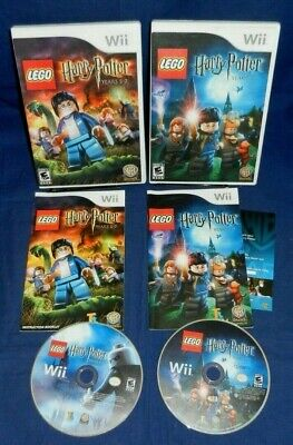 Lot of 2 Wii; LEGO Harry Potter Years 1-4, Years 5-7, Both w/Manual,VG,Free Ship