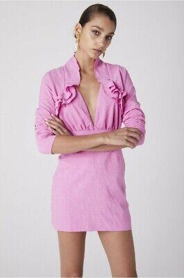 Revolve Atoir Plunge Two By Two Pink Mini Dress XS