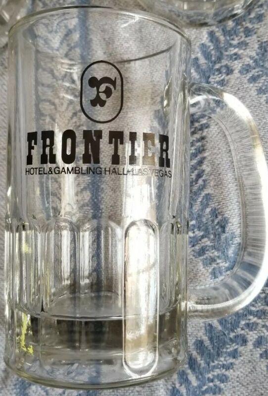 """6 Vintage Frontier hotel Gambling hall & Casino Beer mugs glasses Las Vegas 5"""""""