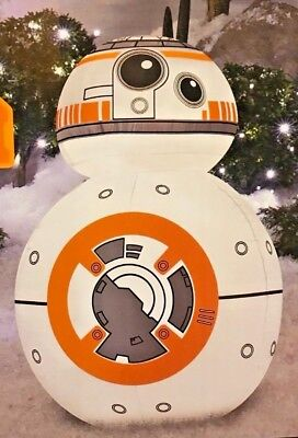 NEW 3.5 FT TALL GEMMY CHRISTMAS STAR WARS DISNEY BB8 LED INFLATABLE