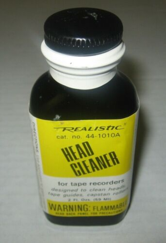 SEALED Vintage Realistic Bottle HEAD CLEANER #44-1010 for Tape Recorders NOS