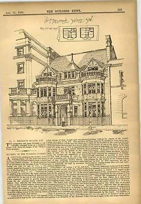 1900 Number One Belgrave Square Design Philip Todd