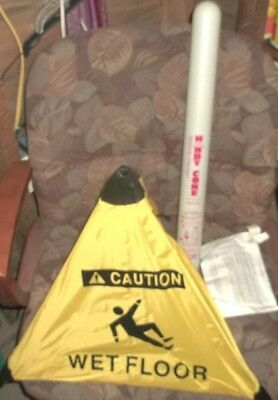 Lot Of 8 Yellow Handy Cone Caution Wet Floor Wall Mount Tube Included Hnc22aa1