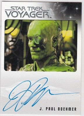 STAR TREK VOYAGER HEROES & VILLAINS J. PAUL BOEHMER AS ONE AUTOGRAPH EL