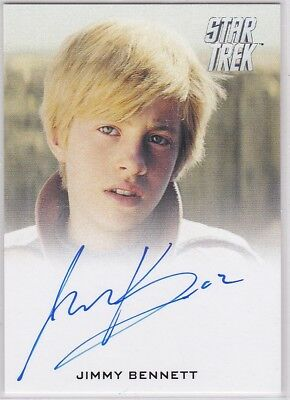 STAR TREK BEYOND MOVIE JIMMY BENNETT AS YOUNG JAMES T. KIRK AUTOGRAPH MOVIE VERS