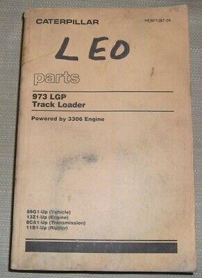 Cat Caterpillar 973 Lgp Track Type Loader Parts Book Manual Sn 86g00001-2999