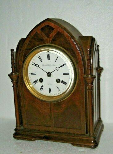 ANTIQUE CROSBY MORSE FOSS, BOSTON JAPY FRERE ECCLESIASTICAL CABINET CHIME CLOCK