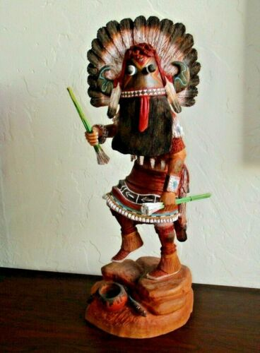 """Hopi Broadface Kachina by Keith Torres - 14"""" Tall, Master Carver Native American"""