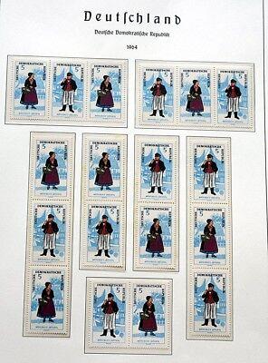 DDR Trachten 1964 komplette Zusammendrucke postfrisch 650 Euro Katalogwert