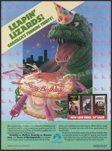 GODZILLA__30th Annv.__Original 1986 print AD / ADVERT__vs. Mothra__Monster Zero