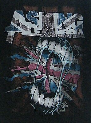 The Asking Alexandria Hot Rock Band Screened In Black Mens T Shirt  Size L