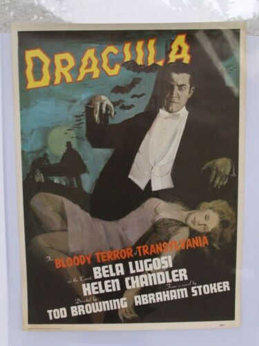VINTAGE RARE DRACULA MOVIE POSTER DATED 1931