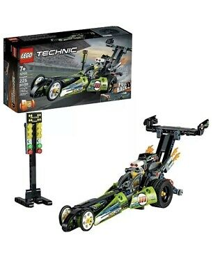 LEGO Technic Dragster 42103 Pull-Back Racing Toy New 2020 (225 Pieces) BENT BOX