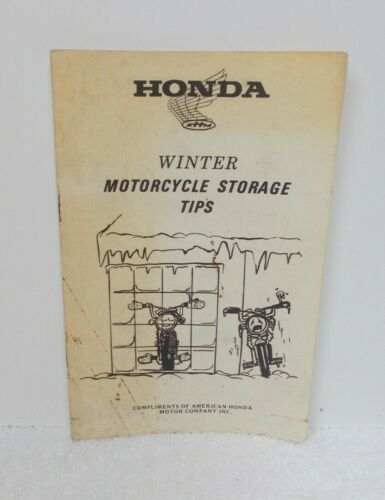 HONDA Winter MOTORCYCLE STORAGE TIPS Booklet  - Late1960