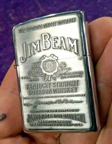 NEW SEALED 2004 Jim Beam Bourbon Whiskey Zippo Lighter Pewter Emblem D 04