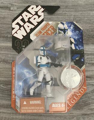 2007 Star Wars Saga Legends 30th Anniversary Clone Trooper Officer Blue
