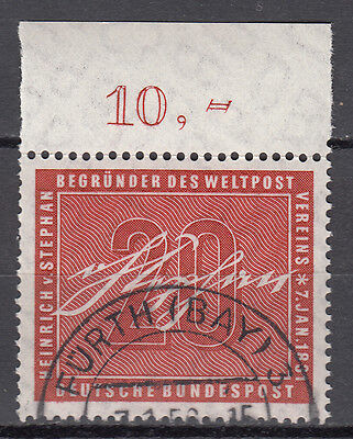 BRD 1956 Mi. Nr. 227 Gestempelt mit Oberrand TOP!!! (21541)