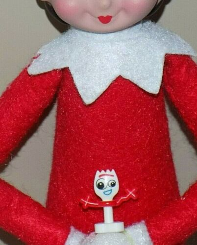 CHRISTMAS ELF PROPS MINI TOY STORY FORKY DOLL ACCESSORY ON THE SHELF GAMES SANTA