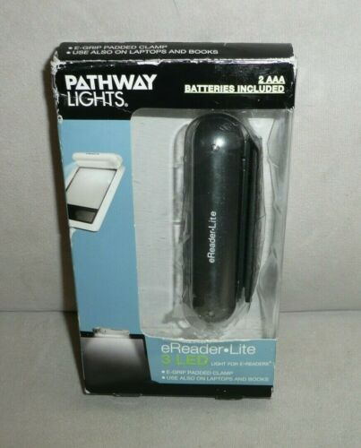 PATHWAY LIGHTS E- READER 3 LED LITE LIGHT FOR E-READERS NEW NIP