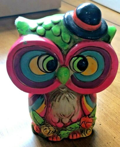 Vintage Psychedelic Qwl Piggy Bank 60's Rare- And So Groovy, Man!