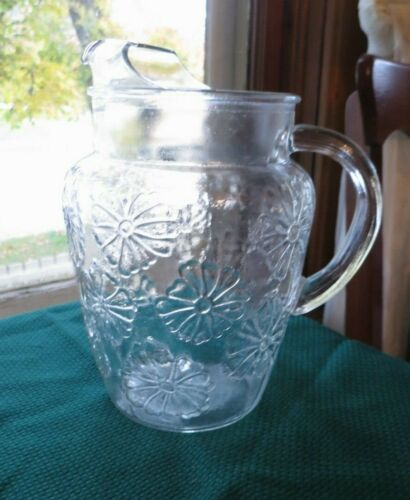 Anchor Hocking Spring Song Ice Lip Pitcher