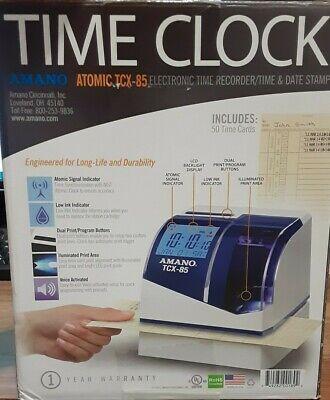 Amano Atomic Tcx-85 Electronic Time Recorder Print Time Date Stamp W Ribbon
