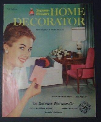 Vintage 1962 Sherwin   Williams Home Decorator Idea Book Catalog Magazine