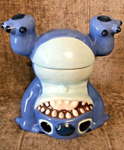 NEW! Disney Lilo And Stitch Handstand Upside Down Cookie Jar Whimsical Ceramic
