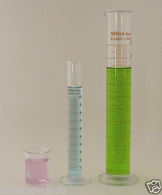Cylinder Set 500ml 100ml Beaker 100ml Borosilicate Glass Griffin Cylinders Lab