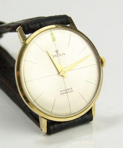 ONSA Armbanduhr 585 Gold - Mechanisch - Handaufzug Golduhr