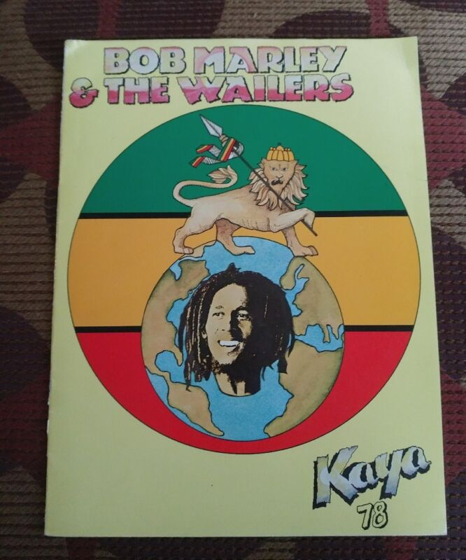 BOB MARLEY WAILERS 1978 KAYA Tour Concert Program Book Programme OOP