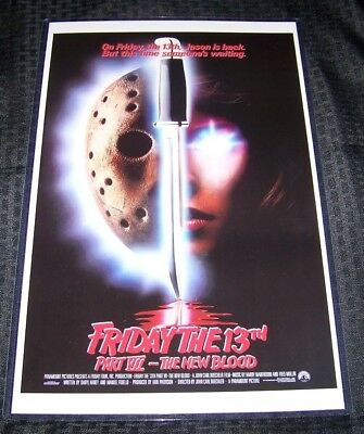 Friday the 13th Part VII the New Blood 11X17 Original Movie Poster Kane Hodder