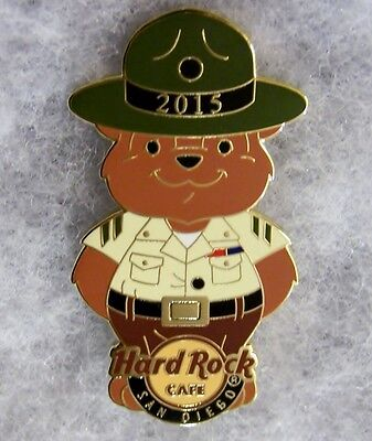 HARD ROCK CAFE SAN DIEGO MARINES MILITARY DRILL INSTRUCTOR BEAR PIN # - Drill Instructor