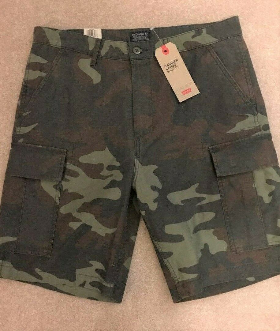 Levi's Men's Carrier Cargo Shorts Cammo Size 29, 30, 31, 38