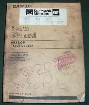 Cat Caterpillar 953 Lgp Track Loader Parts Manual Book Sn 20z00267-up