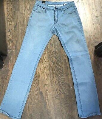 Zip Jeans Men's Classic Light Blue Straight Leg Jeans Size 14 14 Classic Men Jeans
